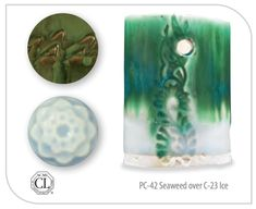 Like the beautiful ancient glazes they are modeled after, the AMACO Celadon glazes are glossy, transparent, and pool beautifully to add vivid accents to texture Amaco Glazes, Glazes For Pottery, Glossier, Clay Projects, Texture, Seaweed, Painting, Ice, Pottery Ideas