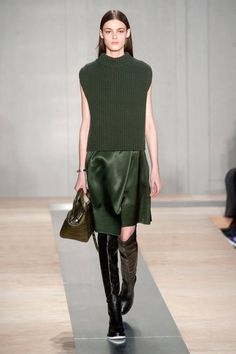 Look 24 Reed Krakoff Fall 2013 #NYFW #coor #green