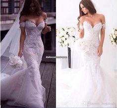 2016 Gorgeous Arabic Spring Lace Mermaid Wedding Dresses Ivory Off Shoulder Sweetheart Backless Court Train Wedding Gowns Custom Made Dress Plus Size Bridal Gowns Romantic Wedding Dresses From Bestdeals, $231.16| Dhgate.Com