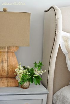 #LooksToLove - Unique lamps from #HomeGoods - the perfect touch for these nightstands.