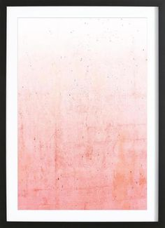 Pink Ombre als Premium Poster gerahmt