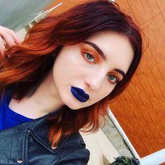 Love a blue lip... #repost #blue #lipstick #lips #lip #makeup #eyebrows #eyeshadow #eyelashes #beautiful #beauty #amazing #instagood #instagram #instalike #instabeauty #like4like #me #nofilterneeded #nofilter #photography #photooftheday #photo #photography #eyes #blueeyes #sky #selfie