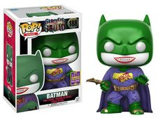 From DC's Suicide Squad, it's Batman Joker Suit in Funko Pop Vinyl! Summer Convention Exclusive Limited Edition Product dimension in windowed box Age Le Joker Batman, Joker Pop, Batman Hero, Funko Pop Batman, Joker And Harley, Joker Suit, Batman Stuff, Pop Vinyl Figures, Funko Pop Figures