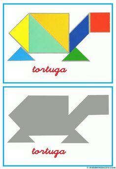 Tangram, figuras para imprimir online pretendo facilitar información y aportar material educativo que he elaborado para descargar e imprimir.