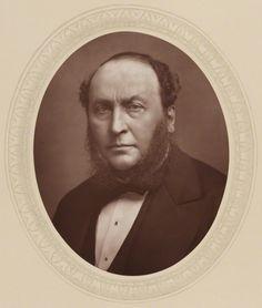 † Sir Michael Costa [born Michele Costa] (February 14, 1808 - April 29, 1884) (here in 1883) Italian born composer, conductor and musician.