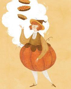 A new OC - Pumpkin Spice Witch!! ✨