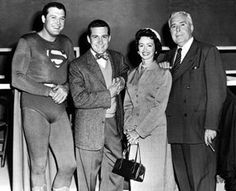 Actor George Hamilton (right), was born today in He played Perry White on TV's Superman. L-R George Reeves, Jack Larson, Noel Neill and birthday star John Hamilton Supergirl Superman, Superman Movies, Batman And Superman, Superman Stuff, Original Superman, Old Tv Shows, Best Tv Shows, George Reeves, Jimmy Olsen
