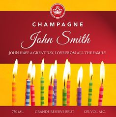 Stripey Candles Have A Great Day, Champagne, Candles, Movie Posters, Film Poster, Candy, Candle Sticks, Billboard, Film Posters