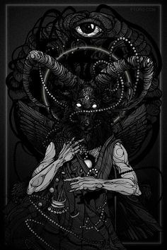 Aker Demon Illustration