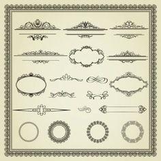 european lace pattern 01 vector
