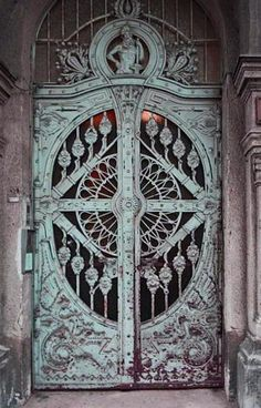 "Love the architectural detail on the Cast Iron ""Dragon Motif Doors,"" Art Nouveau, Budapest, Hungary. Grand Entrance, Entrance Doors, Doorway, Front Doors, House Entrance, Cool Doors, Unique Doors, Art Nouveau, Beautiful Architecture"