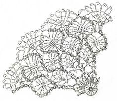 パイナップルのレース編みドイリー(編み図付き・シャルトル大聖堂)の画像:Crochet a little