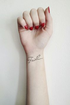 Two Temporary Faith tattoos by Tattoorary on Etsy, $6.00 try it before its permanent