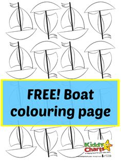 This free boat colouring page is perfect for kids of all ages and abilities. A great creative activity to fill a spare afternoon! Fun Activities To Do, Creative Activities, Transportation Activities, Easy Coloring Pages, Boredom Busters, Art For Kids, Kid Art, Free Printables, Homeschool