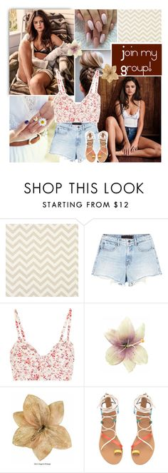 """Link in description :)"" by small-lullabies ❤ liked on Polyvore featuring Alexander Wang, Etro, Clips, croptop, shorts, sandals and selenagomez"