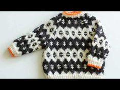 Love the pop of orange trim Icelandic baby knit sweater by thebirdyandthebear on Etsy Baby Knitting Patterns, Baby Sweater Knitting Pattern, Knit Baby Sweaters, Boys Sweaters, Knitting For Kids, Crochet For Kids, Knitting Projects, Crochet Baby, Knit Crochet