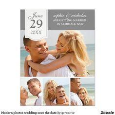 Modern photos wedding save the date