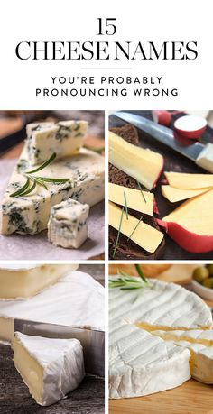 Assembling the perfect cheese plate doesnt have to be hard. But if you cant pronounce all the different cheese types, who knows what type of fromage youll end up taking home. Here are 15 cheeses you might be mispronouncing and how to get them right. Easy Smoothie Recipes, Easy Smoothies, Good Healthy Recipes, Healthy Snacks, Wine Cheese, Cheese Bar, Cheese Food, Cheese Names, Charcuterie And Cheese Board