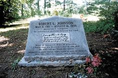 This is what Robert Johnson's grave looks like..
