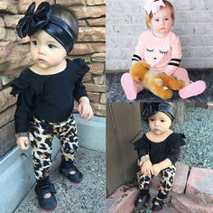 2PCS Newborn Infant Baby Girl Tops T-shirt+Long Pants Fall Winter Outfit Clothes #Unbranded #Everyday