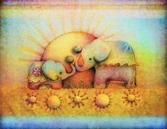 Karin Taylor — художница из Австралии. В рисунках австралийской художницы Karin Taylor слоны и все — разноцветные! Ведь страна детства — волшебная страна! «Главное — жить весело, и не забывать путь в ту замечательную Страну, откуда мы все родом!» — считает Карин. Karin Taylor — художница из Австралии, мать двоих детей. Впервые начала публиковаться в 2002 году.