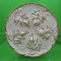 Haviland Limoges Gold Wave Oyster Plate