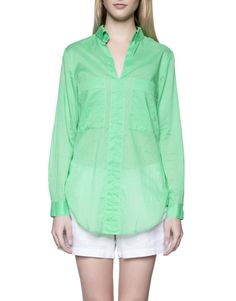 Long Sleeve Voile Shirt