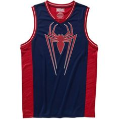Spiderman Mens Basketball Jersey Tank, Men's, Size: Small, Blue
