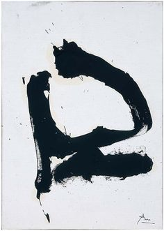 """Robert Motherwell  """"Q (P68-60)"""", 1968  Oil on canvasboard  14 x 10 inches"""