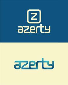 azerty, it logo, it logos, it shop, pc, electronic, pc components, it, shop, logo design