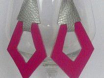 Geometrische Hängeohrringe Silberohrhaken 925