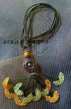 Crochet Necklace Crochet Headband Flower Fabric by ForGoodPeople Form Crochet, Bead Crochet, Tunisian Crochet, Needle Lace, Bobbin Lace, Crochet Accessories, Handmade Accessories, Crochet Symbols, Knit Shoes