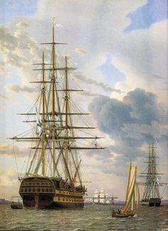A Russian Ship Of The Line -Christoffer Wilhelm Eckersberg