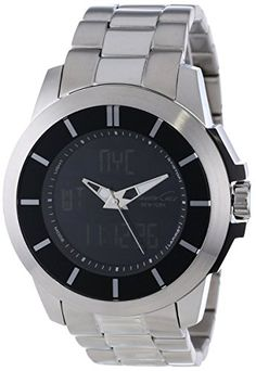 220aa3d21aeb9 Kenneth Cole New York Men's KC-Touch Black Dial Silver Bracelet Touch  Screen Watch