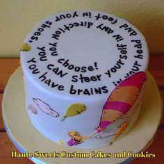 Image result for oh the places you'll go cake
