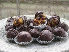 Greek Recipes, Sweet Life, Finger Foods, Truffles, Christmas Time, Muffin, Cooking, Breakfast, Desserts