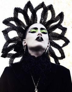 "From the Miista Lookbook AW12 ""Electric Witches"" loving this gothic make-up look!"