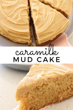 Easy Cake Recipes, Sweet Recipes, Baking Recipes, Dessert Recipes, Cupcake Recipes, Caramel Mud Cake, Chocolate Mud Cake, Salted Caramel Cheesecake, Sweet Desserts