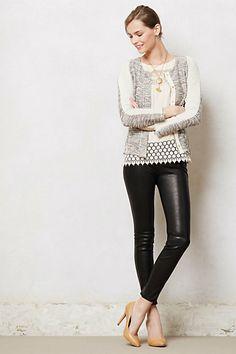 J Brand Leather Leggings #anthropologie