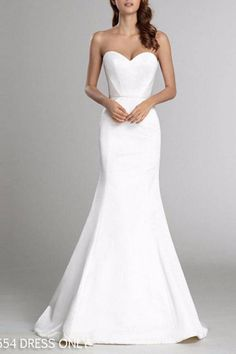 Alvina Valenta Sleek Strapless Gown