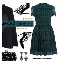 """""""Holiday Chic: Mini Dresses"""" by hamaly ❤ liked on Polyvore featuring Oasis, Temperley London, Gianvito Rossi, Alexander McQueen, Anton Heunis, Vellum, Charlotte Russe, outfit, shoes and ootd"""