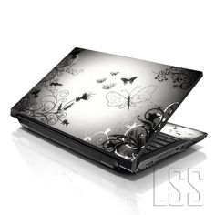 "Amazon.com: LSS 15 15.6 inch Laptop Notebook Skin Sticker Cover Art Decal Fits 13.3"" 14"" 15.6"" 16"" HP Dell Lenovo Apple Asus Acer Compaq (Free 2 Wrist Pad Included) Butterfly Contrast Fade: Computers & Accessories"
