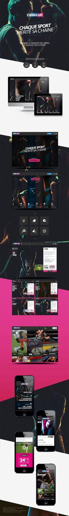 Canalsat Sport 2013 by Manuel Vélin, via Behance #photography #webdesign #layout