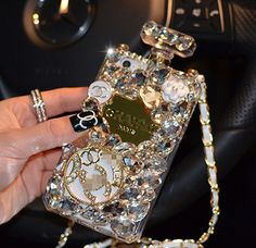 luxury bling crystals diamond lovely floral perfume bottle case iphone 4/4s,iphone 5/5s/5c,perfume samsung galaxy note 2/note3/s3/s4/s5 case on Etsy, $26.99