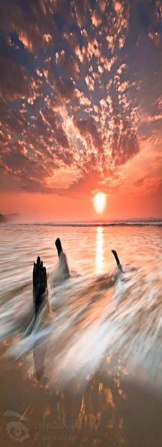 spectacular beach sunset