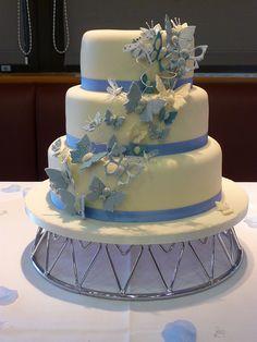 Butterfly Cascade Wedding Cake by DaisyJack Cakes (Anne Hepworth Smith), via Flickr
