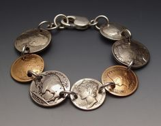 Bracelet with Silver and Copper coins. Can you recoganize what coins they are?~