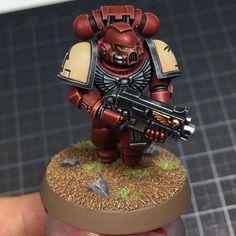 Blood Raven. Found some pictures of this guy in better light #bloodravens #warhammer40k #spacemarines #gamesworkshop #miniaturepainting