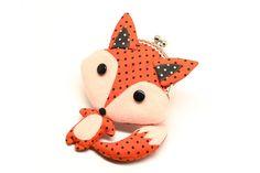 Little cunning red fox clutch purse. $29.90, via Etsy. http://www.etsy.com/listing/102306737/little-cunning-red-fox-clutch-purse?