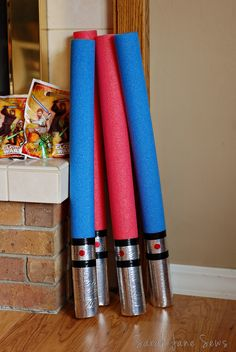 Sarah Jane Sews: Star Wars Cargo Shorts & Pool Noodle Lightsabers